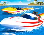 Экстремальная гонка на скоростной лодке
