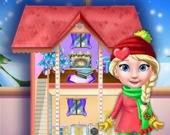 Рождественские украшения для куклы принцессы